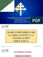Marco Historico de La Legislacion Educativa