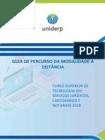 2018 2 GuiadePercurso EAD CST ServicosJuridicosCartorariosenotariais
