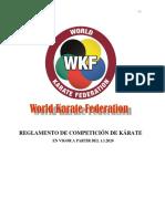 WKF Reglamento Kata y Kumite 1.1.2020