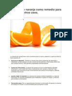 utilidad de la cascara de naranja.