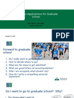Successful Applications for Graduate School Fall 16