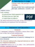 Ge Mmw, Logic, Chapter 3
