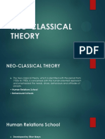 NEO-CLASSICAL  THEORY