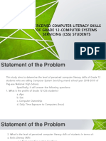 Perceived Computer Literacy Skills of Grade 12-CSS (PPT for Oral Defense)