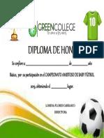 Diploma Deportivo 2019