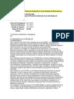 Reglamento Para La Protección Ambiental en Las Actividades de Hidrocarburos