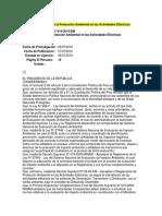 Reglamento Para La Protección Ambiental en Las Actividades Eléctricas