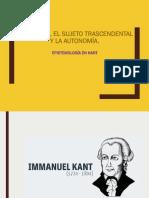 Epistemología en Kant PPT