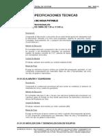 1. Especificaciones Tecnicas Agua y Alcantarillado 01