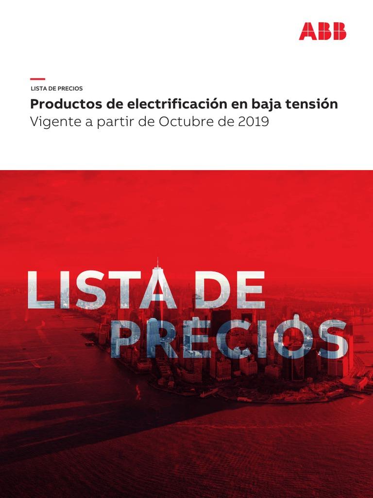 lista-de-precios-abb-2019.pdf | Energia electrica | Ingenieria Eléctrica