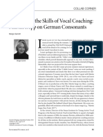 the art and the skills of vocal coaching