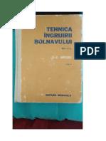 Tehnica Ingrijirii Bolnavului-Carol Mozes - Vol.2 Comprimat