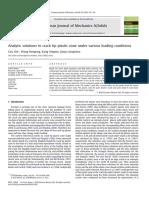 Analyticsolutionstocracktipplasticzoneundervariousloadingconditions