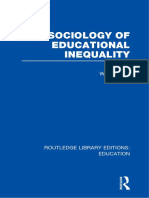 William Tyler Socioligy of Educational Inequality