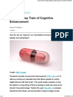 The Runaway Train of Cognitive Enhancement
