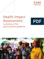 ICMM Health Impact Assessment - Summary