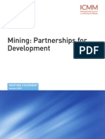 ICMM Mining Partnerships for Development