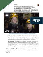 Kiwi (11) and Zozo (8) climb for #ClimateCrisis action - W.E.C.A.R.E.