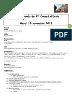 Compte rendu du 1er conseil d'école Elémentaire 2019 - 2020