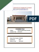 Chemistry Coarse File 2019-20 I Sem