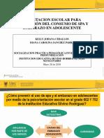 Diapositivas-socialización Consumo de Spa y Embarazo en Adolescente