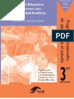ATENCIÓN EDUCATIVA DE ALUMNOS CON DISCAPACIDAD AUDITIVA