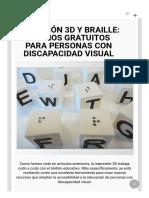 Impresión 3D y Braille_ Diseños Gratuitos Para Personas Con Discapacidad Visual - Trimaker