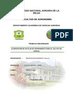 Plan de Fertilización en Arveja
