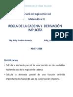 Regla de La Cadena y Derivación Implicita