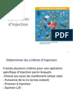 5 Les Critères d'Injection
