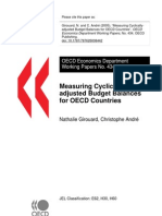 Nathalie Girouard, Christophe André Measuring Cyclically adjusted Budget Balances for OECD Countries