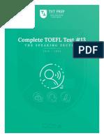 03.13, TST Prep Test 13, The Speaking Section