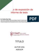 Modelo de Presentación - Informe de Tesis