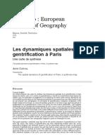 Les dynamiques spatiales de la gentrification à Paris.pdf