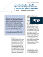 A Survey of Applications of Multi- Criteria Decision Analysis Methods in Mine Planning and Related Case Studies