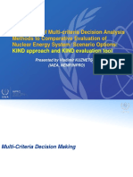 Application of Multi-criteria Decision Analysis Methods to Comparative Evaluation of Nuclear Energy System