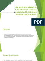 NORMA Oficial Mexicana NOM-015-STPS-2001.pptx