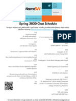 #MacroSW Spring 2020 Chat Schedule