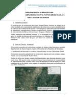 Memoria descriptiva arquitectura Hospital de Jalapa NUEVA ZONIFICACION.pdf