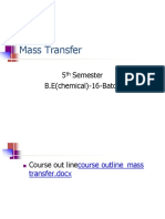 1. Introduction to Mass Transfer