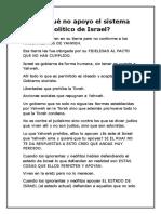 Por Qué No Apoyo El Sistema Político de Israel