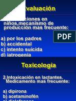 38. Toxicologia Preguntas