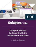 Using the Mastery Dashboard With the Philippines Curriculum