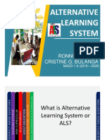 ALTERNATIVE LEARNING SYSTEM