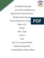 Plan de Negocios - Johnny Andrade Macias - Export A.M. S.A.