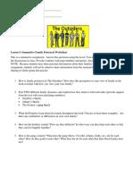 SEA Lesson 5 - Summative Family Portrayal Worksheet