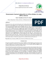 Measurement of Natural Radioactivity in Aldora Refinery by Using Hpge Detector