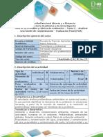 Guía de Actividades y Rúbrica de Evaluación - Tarea 5 - Analizar Una Fuente de Contaminación - Evaluacion Final (POA)
