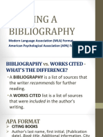Lesson 5 Writing a Bibliography
