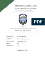 COMENTARO LEY 30709 Gestión de Personal